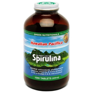 Green Nutritionals Hawaiian Pacifica Spirulina - 1000 Tablets