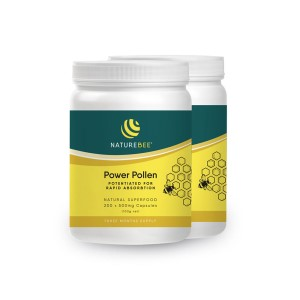NatureBee Potentiated Bee Pollen - 400 Capsules
