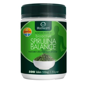 Lifestream Bioactive Spirulina 500mg - 500 Tablets