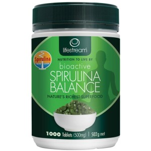 Lifestream Bioactive Spirulina 500mg - 1000 Tablets