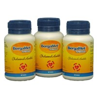 BergaMet Mega +O New Formula - Cholesterol & Blood Sugar Support - 3 Bottles - 180 Tablets