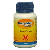 BergaMet Mega +O New Formula - Cholesterol & Blood Sugar Support - 60 Tablets