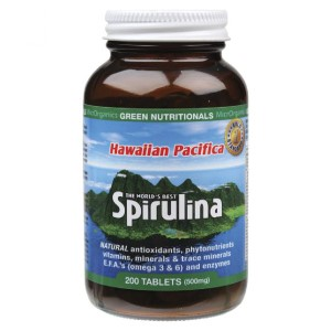 Green Nutritionals Hawaiian Pacifica Spirulina - 200 Tablets