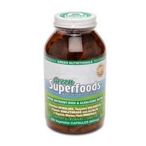 Green Nutritionals Green Superfoods - 250 Vege Capsules