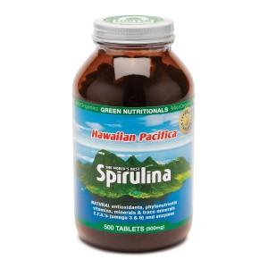Green Nutritionals Hawaiian Pacifica Spirulina - 500 Tablets