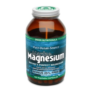 Green Nutritionals Pure Ocean-Source Marine Magnesium - 120 Vege Capsules