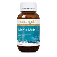 Herbs of Gold Mens Multi - Performance Energy and Stress Relief - 60 Tablets