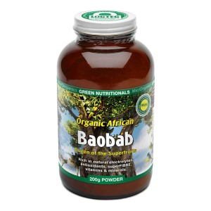 Green Nutritionals Organic African Baobab Powder - 200g